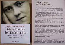 Ste Thérèse de l'enfant Jésus, le pur amour est-il bien dans mon coeur ?