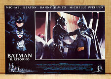 BATMAN IL RITORNO fotobusta poster Returns Super Hero Cat Woman Michael Keaton