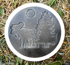 moose tree cabin theme concrete stepping stone mold plaster mould