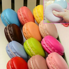 Candy Color Soft Dessert Macaron Squishy Cute Cell Phone Charm Key Straps Random