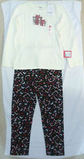 NWT GYMBOREE HOLIDAY PICTURES CHRISTMAS 7-8 SHIRT/CANDY CANE LEGGINGS/SOCKS