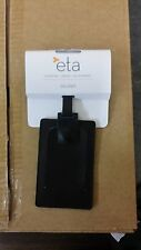 12 Brand New ETA Black Leather Luggage Tag Docket 48621 Travel Accessory