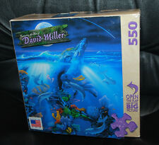 """David Miller Jigsaw Puzzle 550 Pieces Dolphin Reef 18"""" x 24"""" Sea Water Coral 5+"""