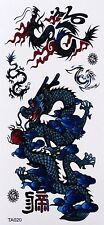 Tatouage Temporaire Dragons Nouveau Design paillettes 4 Stickers Waterproof