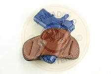 Armadillo Holsters Inc. Tan Leather Mini Speed Belt Holster for 1911  (G5) (OWB)