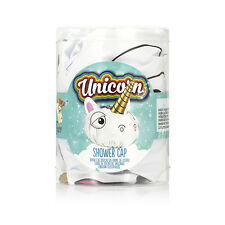 NPW Unicorn Shower Cap - White with a Gold Unicorn Horn