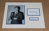 SIR TOM FINNEY England & Preston Genuine Hand SIGNED Photo Mount + COA PROOF