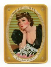 Claudette Colbert 1937 Garbaty Passion Film Favorites Embossed Cigarette Card 56