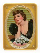Claudette Colbert 1937 Garbaty Passion Film Favorites Embossed Cigarette Card 56