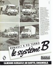 PUBLICITE ADVERTISING 037  1986  Renault véhicules Industries camion B 90 T  b