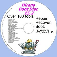 Hirens Boot Disc 15.2 Boot Repair Recover Disc - 100s of programmes