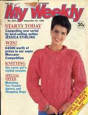 MY WEEKLY MAGAZINE 23/9/1989 KNITTING PATTERN SOFT TOY ME AND MY TEDDY BEAR
