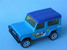 Matchbox Land Rover 90 Defender Blue Body K-9 Dog Patrol Police