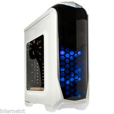 KOLINK AVIATOR WHITE USB 3.0 GAMING TOWER CASE TOOL FREE LED ATX mATX MINI ITX