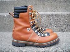Vtg Made in USA Mountaineering Hiking Leather Backpacking Stomper Men's Boots 10