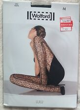 wolford Lulu tights Pantyhose Tiger look Pattern Medium Black