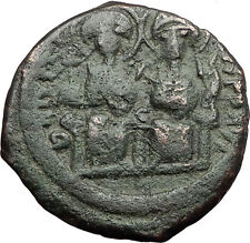 Justin Ii & Queen Sophia 565Ad Constantinople Medieval Byzantine Coin i59423