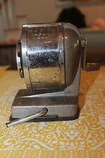 Vintage Boston Pencil Sharpener Vacuum Mount Hand Crank 8 Whole Grey/Silver