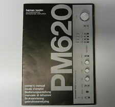 Harman Kardon PM620 Owner's Manual