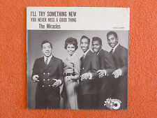 MIRACLES I'll Try Something New 45 rpm PICTURE SLEEVE ONLY Tamla 1962 SOUL