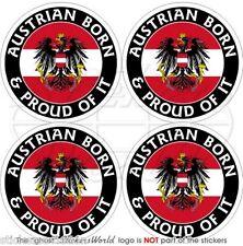 """AUSTRIA Austriaco Nato & Fiero Adesivi in Vinile per Auto 50mm (2"""") Stickers x4"""