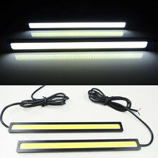 2x White 12V 14cm LED COB Car Auto DRL Driving Daytime Running Lamp Fog Light