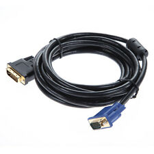 10FT/3m DVI-I Dual Link (24+5) Male to VGA Male M/M Video PC Monitor Cable Cord