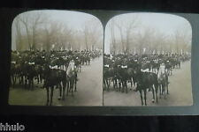 STB417 USA President Mc Kinley escorte Horse stereoview photo STEREO albumen
