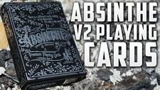 INVISIBLE ABSINTHE V2 DECK PREMIUM PLAYING CARDS ELLUSIONIST MAGIC TRICKS GAFF