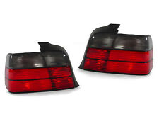 DEPO 92-98 BMW E36 4DR SEDAN 3 SERIES EURO RED/SMOKED LENS TAIL LIGHTS REAR