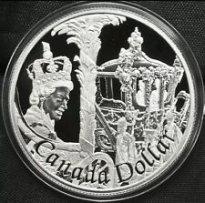 2002 Canada 92.5% Silver Proof Voyageur Dollar Queen Elizabeth Golden Jubilee