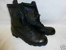 Mens Military Leather Duty Combat Boots 14 Regular Speed Lace New 04/97