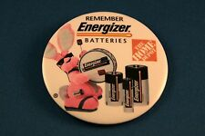 "Energizer Battery 3"" Advertising Pinback Button Home Depot"