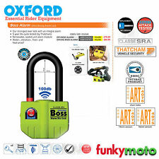 OXFORD BOSS ALARM LONG SHACKLE U LOCK 100dB THATCHAM APPROVED MOTORBIKE SECURITY