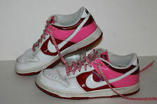 Nike Dunk Low Valentine's Ed Casual Sneakers, #317813-114,Red/Pink/Wht, Womens 8