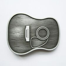 DREADNAUGHT ACOUSTIC NOVELTY SONG SING PLAY GUITAR MUSIC SILVER BELT BUCKLE