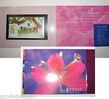 Hong Kong 2001 stamp exhibition S/S #8 Presentation Pack`