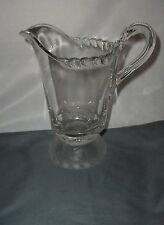Antique Gillinder EAPG Glass Pitcher Frosted Lion Footed Base NICE