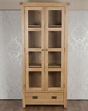 Chunky Farmhouse Solid Oak Harrogate Natural Display Cabinet , RRP £699.00!!!