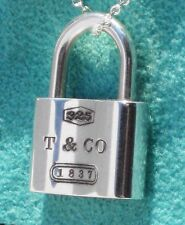 Tiffany & Co Sterling Silver 1837 Padlock Charm ONLY
