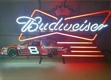 BUDWEISER BEER RACING NEON NASCAR #8 Dale Earnhardt Jr LIGHT Collectable NOS USA
