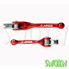 Apico Flexi Pivot Forged Brake & Clutch Levers Honda CR 80 85 98-07 CRF150 Red