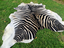 GORGEOUS NEW ZEBRA COWHIDE SKIN Rug Print Printed steer COW HIDE - DC5188 D8