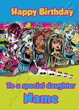 - MONSTER HIGH - IDEAL FOR DAUGHTER NIECE PERSONALISED CHILDREN'S BIRTHDAY CARD