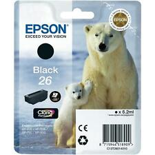 Genuine Epson 26 Black T2601 Ink Cartridge for Expression XP-710 XP-700 XP-510