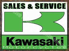 Vintage Garage Kawasaki 61, Motorcyle Motorbike, Service, Large Metal/Tin Sign