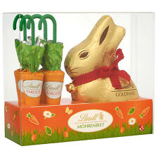 Lindt Easter Chocolate Bunny & 4x Chocolate Carrot Lollies 154g