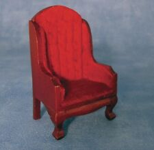 Dolls House Armchair : Traditional style fireside chair in 12th scale