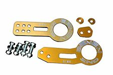 GOLD FRONT AND REAR TOW HOOK SET FOR RACE TRACK CAR - BENEN STYLE - HONDA CIVIC