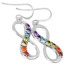 Infinity Chakra 925 Sterling Silver Earrings Jewelry CP228